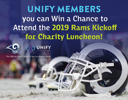 UNIFY MEMBERS: You can Win a Chance to Attend the 2019 Rams Kickoff for Charity Luncheon!